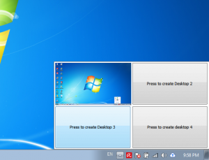 Kích hoạt desktop ảo trên win 7