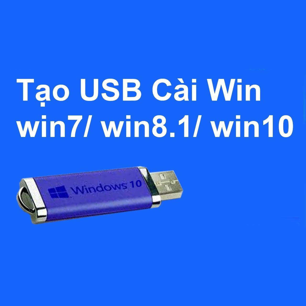 Tạo usb cài win trên cả 2 chuẩn Legacy và UEFI - laptop cũ